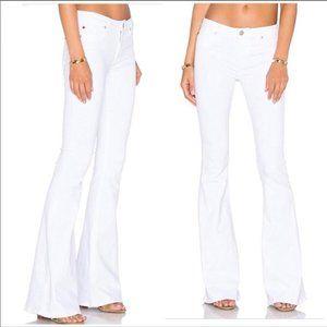 Hudson Mia Barefoot White Flare Jeans